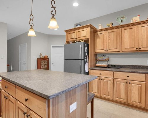 Hickory Kitchen with Steel Gray Granite