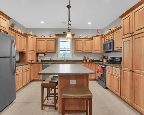 Hickory kitchen island