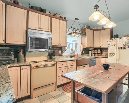 Retro cook stove microwave cabinets
