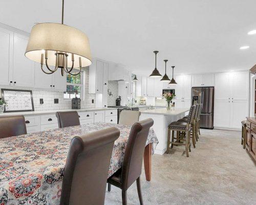 Shaker style white kitchen