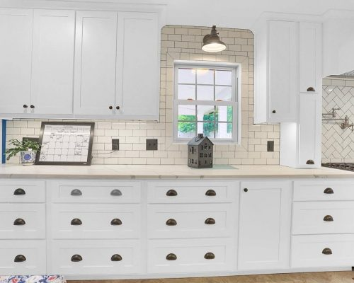 White Shaker Style drawer cabinets